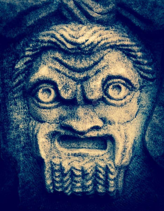 Máscara del teatro de Silenus fotos de archivo