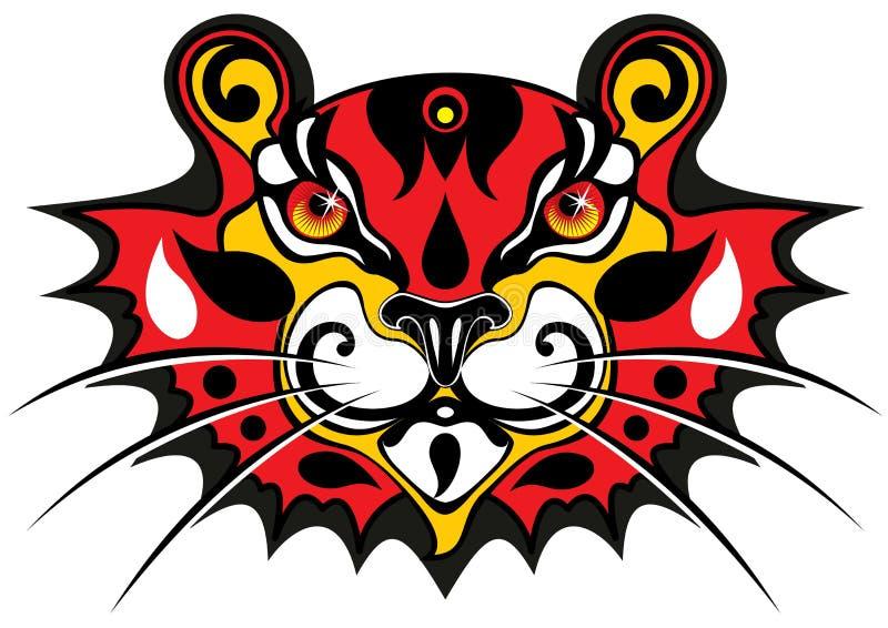 Máscara del tigre imagen de archivo libre de regalías
