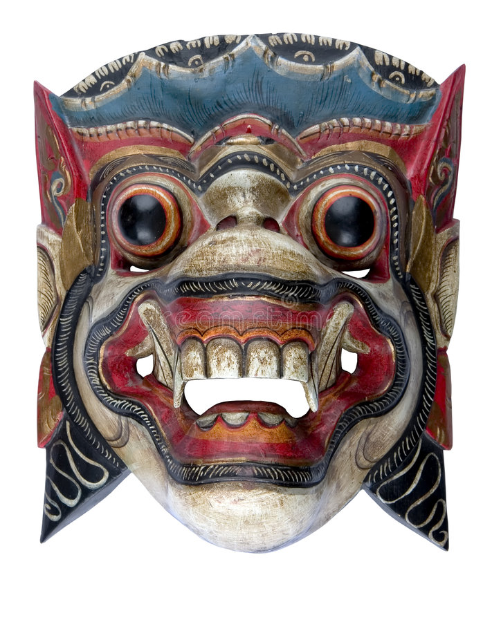 Máscara do Balinese fotografia de stock royalty free