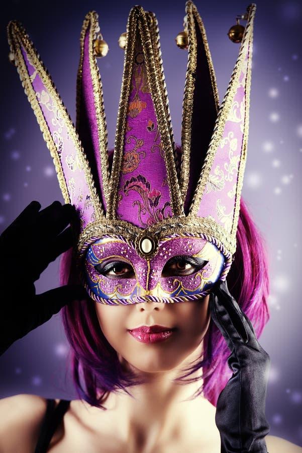 Máscara do carnaval foto de stock