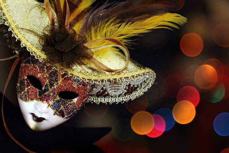 Máscara do carnaval do vintage imagem de stock