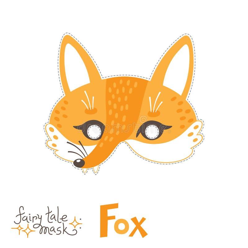 Máscara do carnaval do Fox para o bebê Caráter animal do conto de fadas do traje para um partido das crianças Ilustra??o isolada  ilustração royalty free