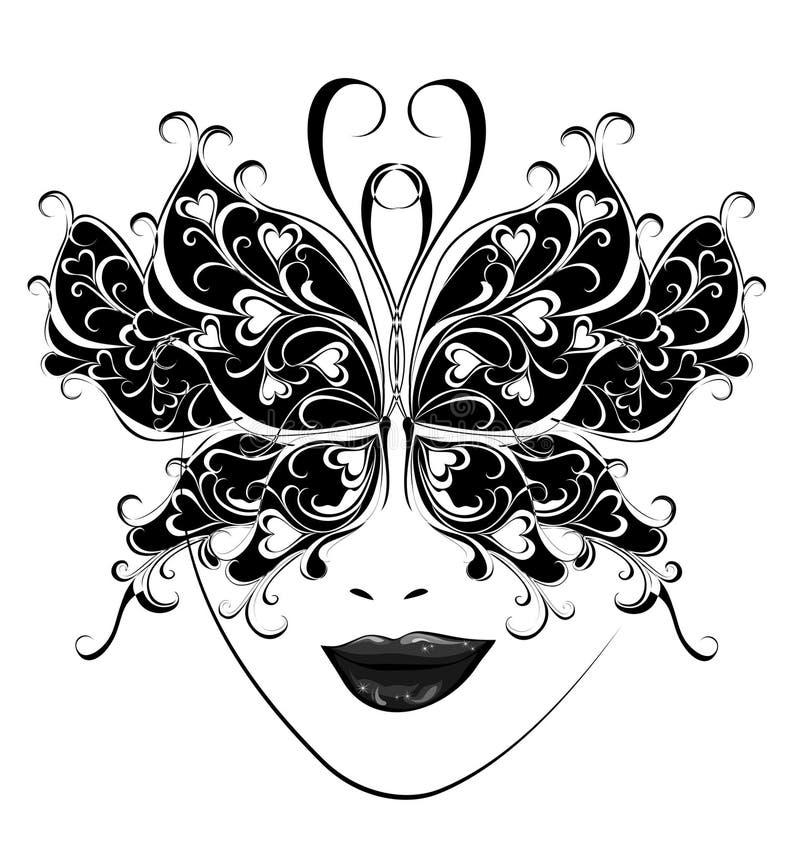 Máscara do carnaval. Máscaras da borboleta para um disfarce. ilustração royalty free