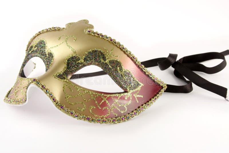 Máscara do carnaval sobre o branco fotos de stock