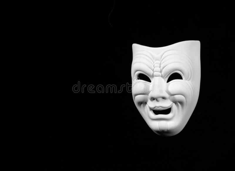 Máscara do conceito da comédia do teatro foto de stock royalty free