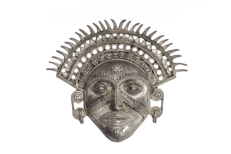 Máscara do deus de Sun isolada contra o fundo branco fotos de stock royalty free