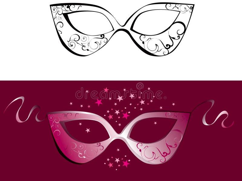 Máscara do dominó ilustração stock