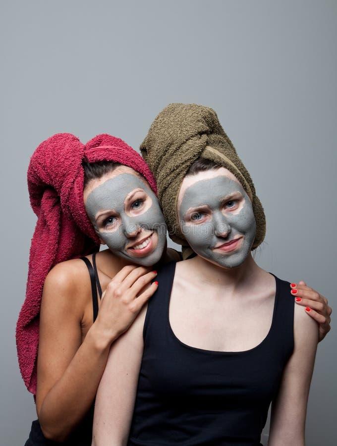Máscara do facial da argila foto de stock royalty free