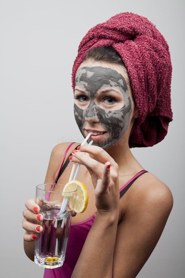 Máscara do facial da argila imagens de stock royalty free