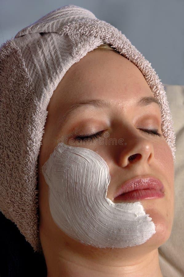 Máscara do Facial da beleza dos termas foto de stock