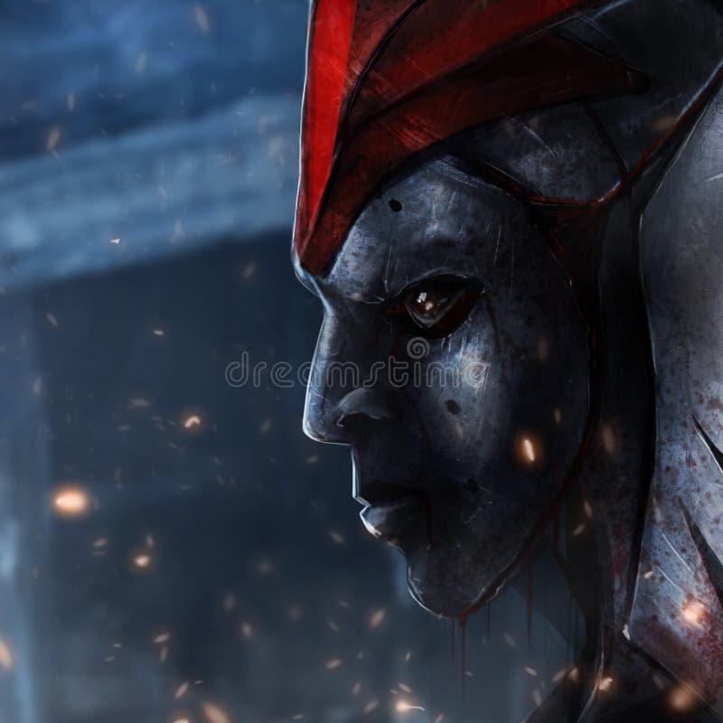 Máscara do ferro ilustração royalty free