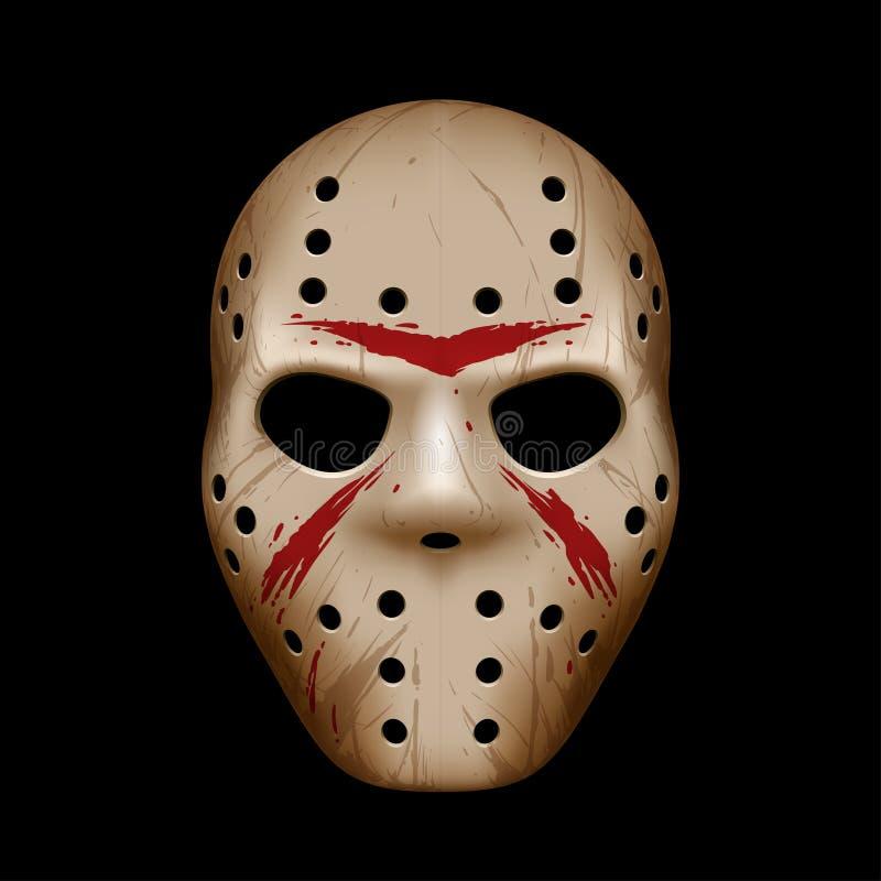 máscara do hóquei ilustração stock