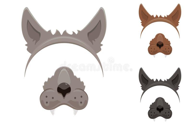 Máscara do homem-lobo para Dia das Bruxas ilustração stock
