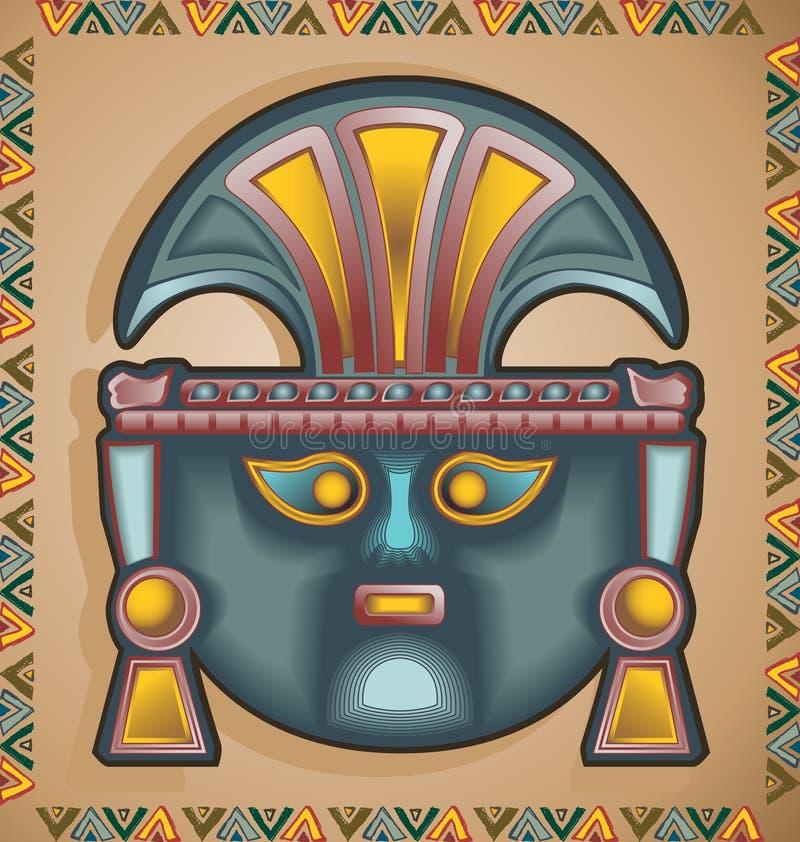 Máscara do Inca ilustração royalty free