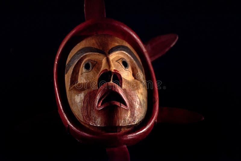 Máscara do indiano do nativo americano fotos de stock royalty free