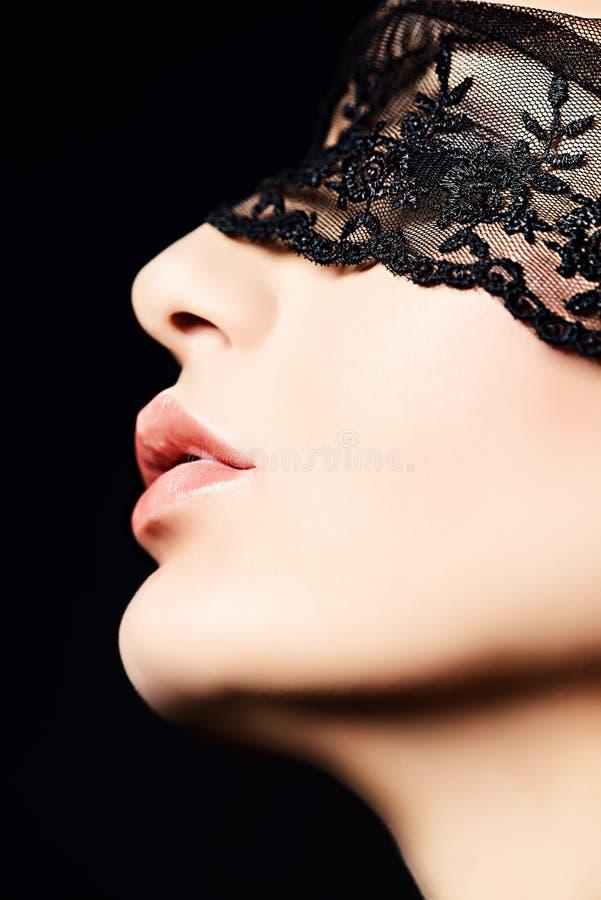 Máscara do laço fotografia de stock