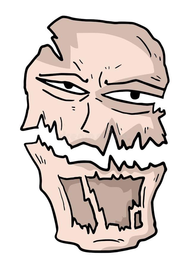 Máscara do monstro ilustração do vetor