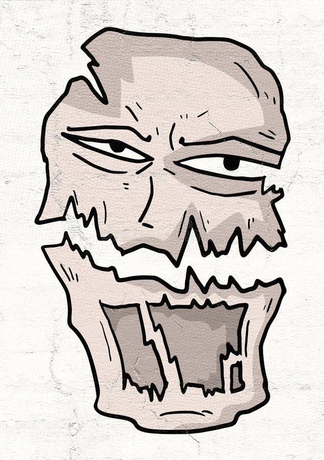 Máscara do monstro ilustração royalty free