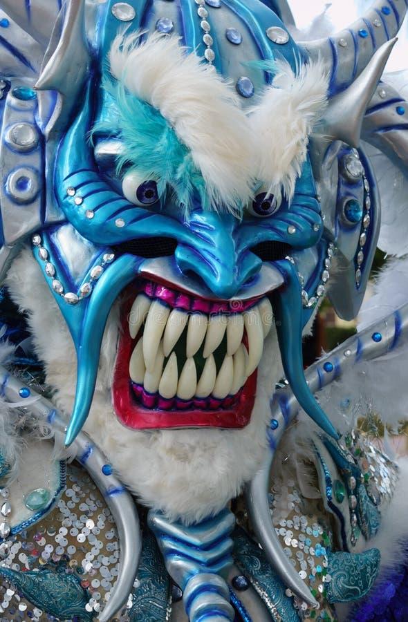 Máscara do monstro no carnaval de Guerra (República Dominicana) imagens de stock royalty free