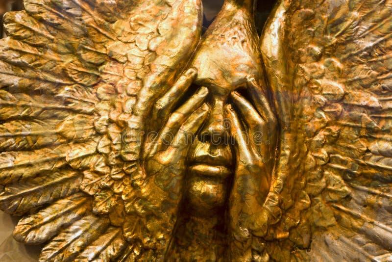 Máscara do ouro de Veneza fotografia de stock royalty free