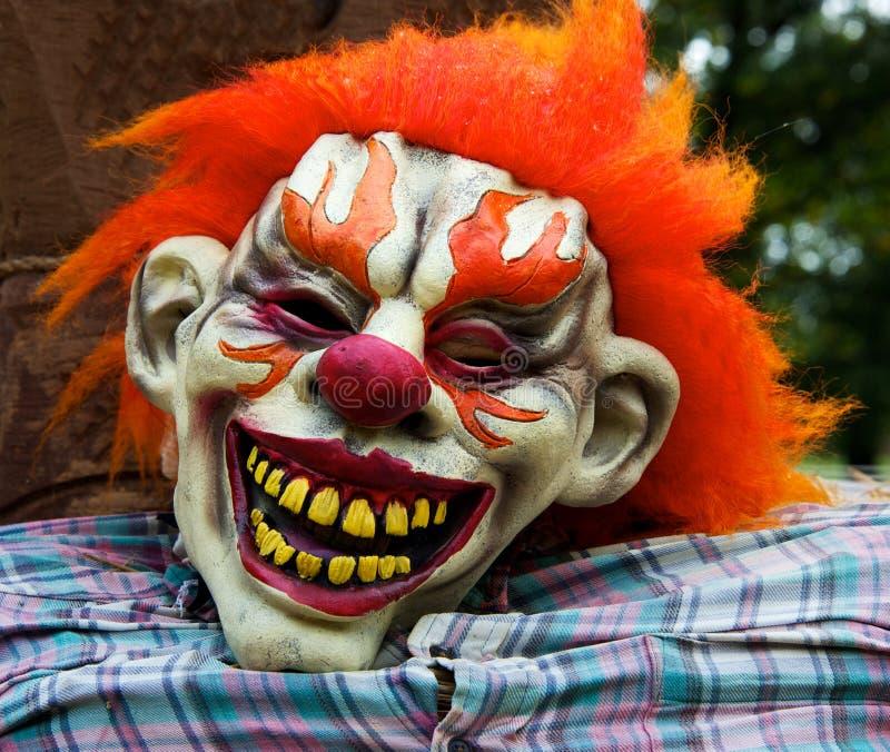 Máscara do palhaço de Halloween fotografia de stock royalty free