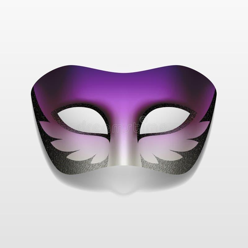 Máscara do partido do disfarce do carnaval do vetor isolada ilustração stock