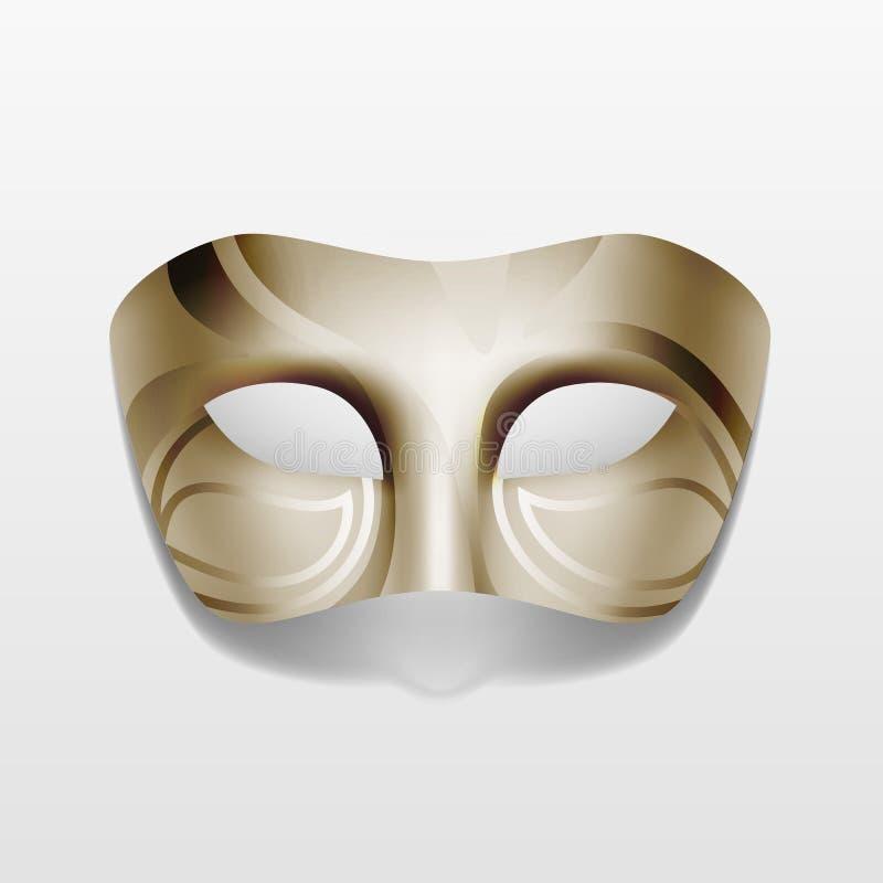 Máscara do partido do disfarce do carnaval do vetor isolada ilustração do vetor