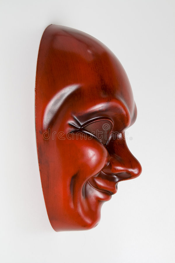 Máscara do smiley foto de stock royalty free