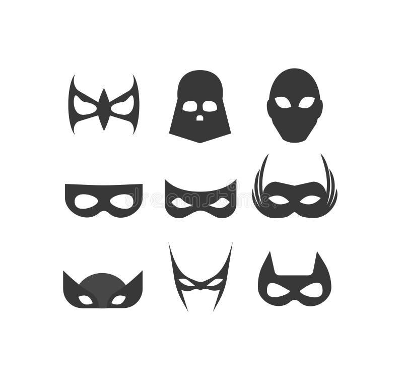Máscara do super-herói ilustração do vetor