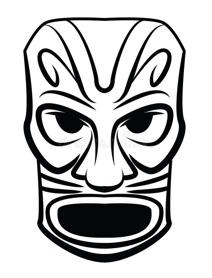 Máscara do totem ilustração do vetor