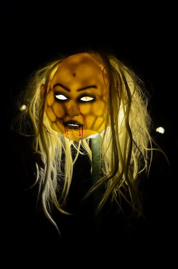 Máscara do zombi de Halloween fotos de stock royalty free