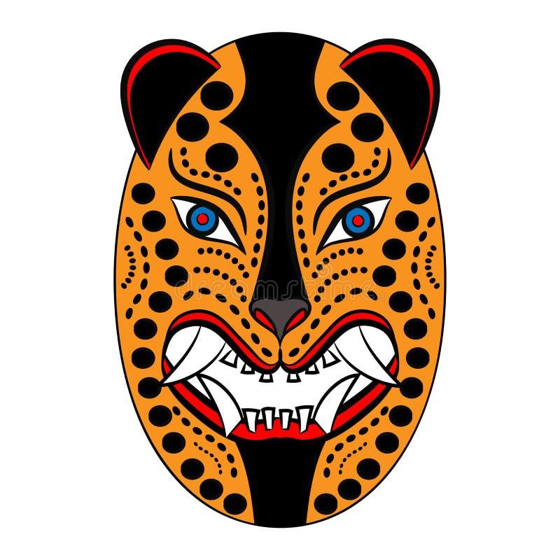 Máscara dos astecas de México antigo ilustração royalty free