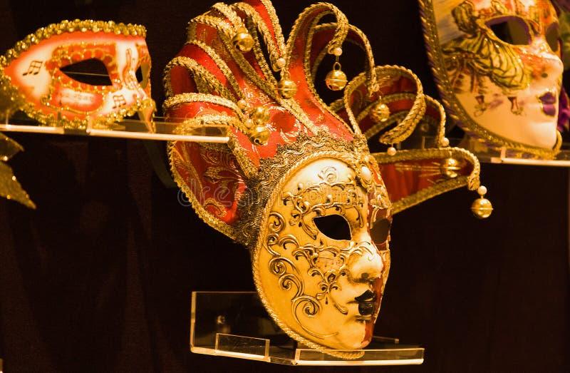 Máscara dourada imagens de stock royalty free