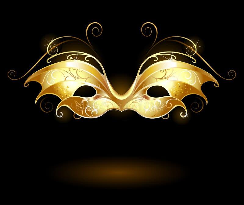 Máscara dourada ilustração do vetor
