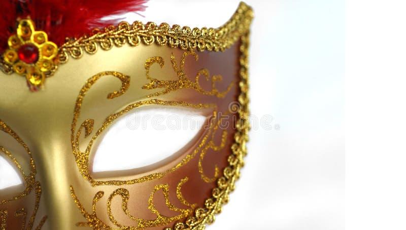 Máscara dourada do partido imagem de stock royalty free
