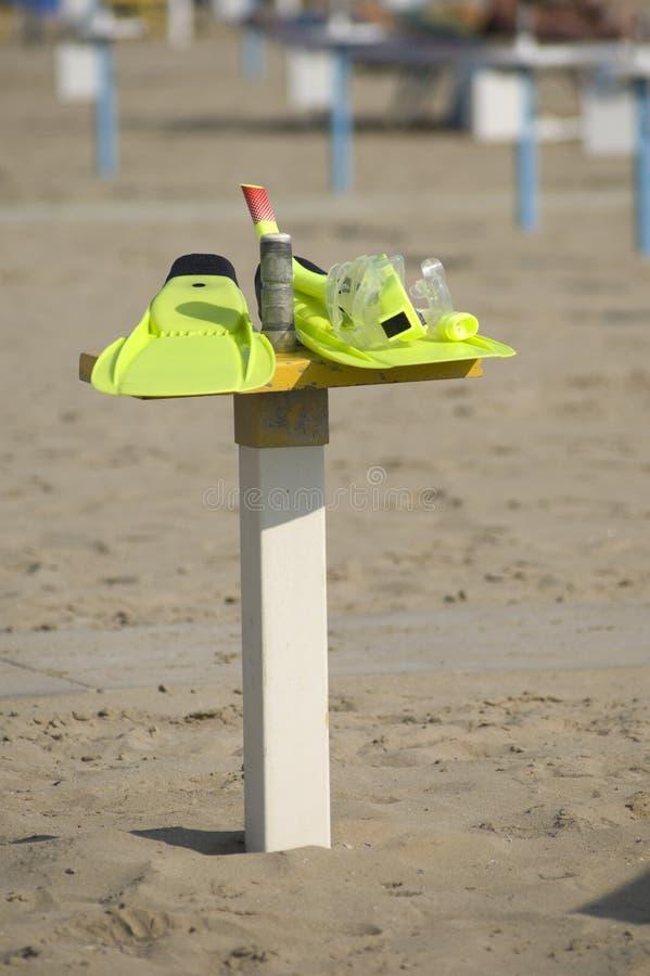 Máscara e aletas para snorkeling foto de stock royalty free