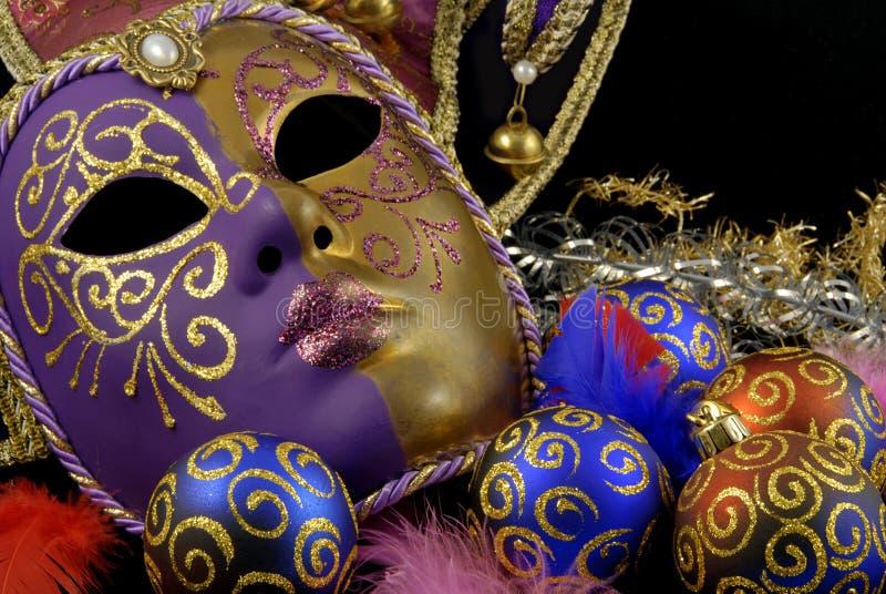 Máscara e baubles fotos de stock