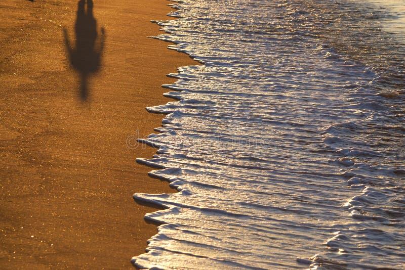 Máscara em uma praia