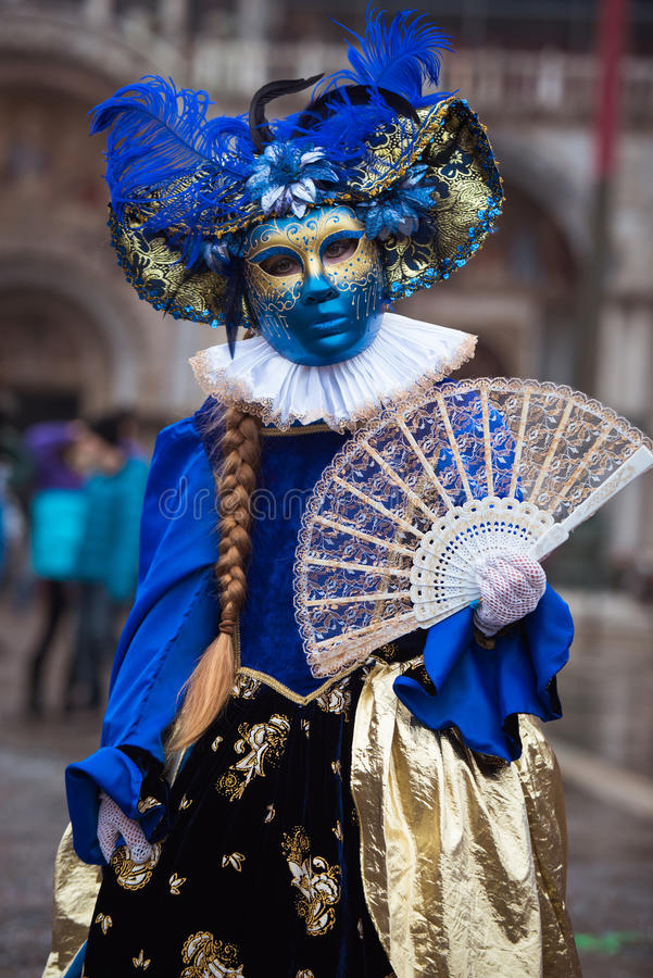 Máscara em Veneza, Italy fotografia de stock