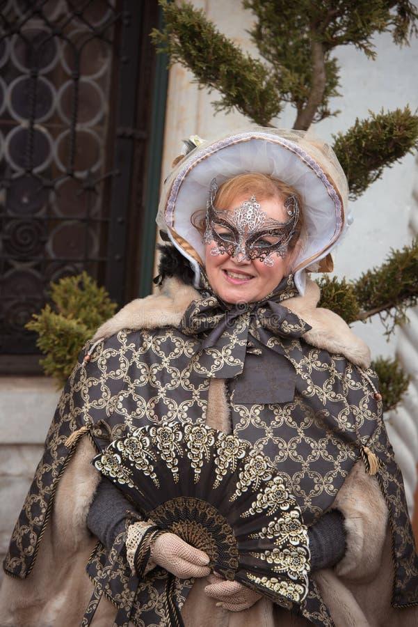 Máscara em Veneza, Italy fotografia de stock royalty free