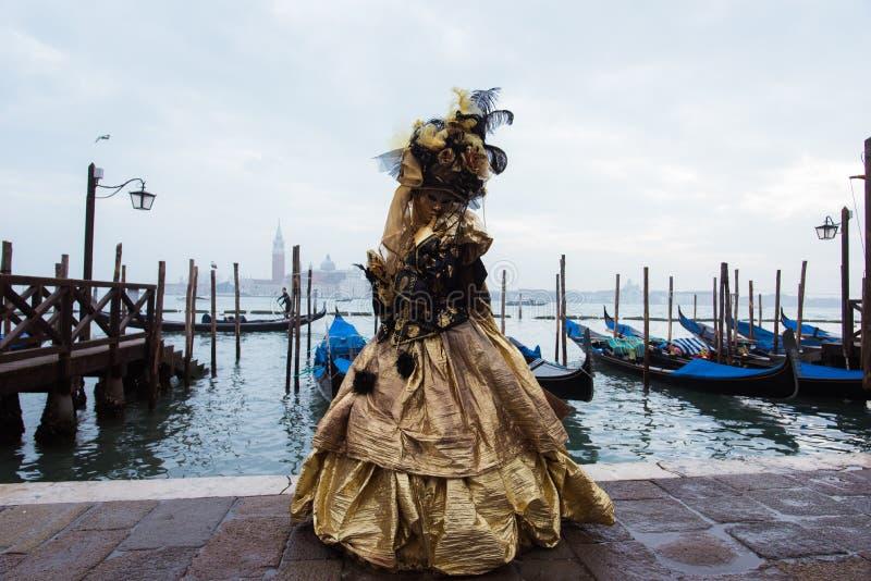 Máscara em Veneza, Italy foto de stock
