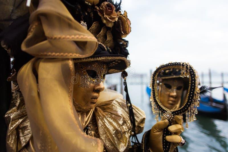 Máscara em Veneza, Italy fotos de stock royalty free