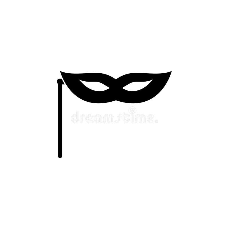 máscara en icono del palillo Elemento del ejemplo del teatro y del arte Icono superior del diseño gráfico de la calidad Muestras  ilustración del vector