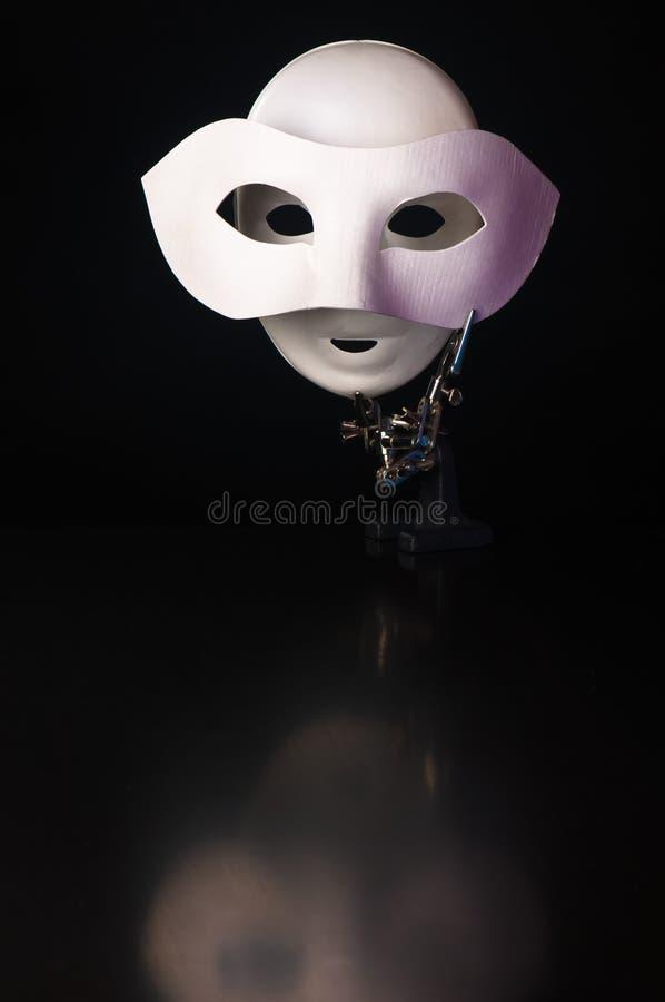Máscara en la máscara fotografía de archivo