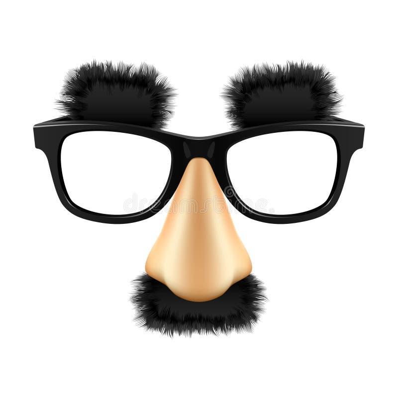 Máscara engraçada do disfarce. Vetor. ilustração royalty free