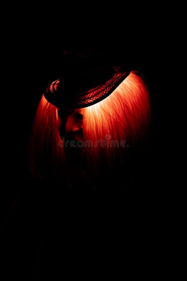 Máscara espeluznante roja en el Carneval en Basilea fotografía de archivo libre de regalías