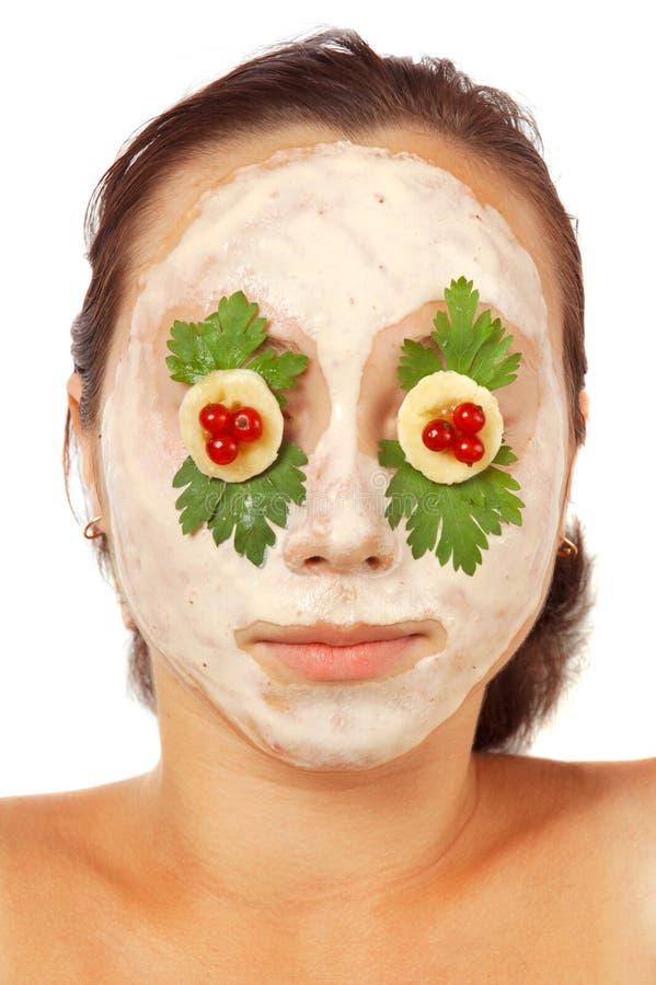 Máscara facial colorida isolada fotografia de stock