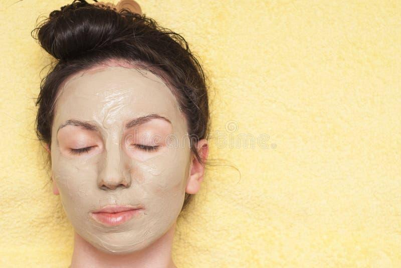Máscara facial cosmética imagem de stock
