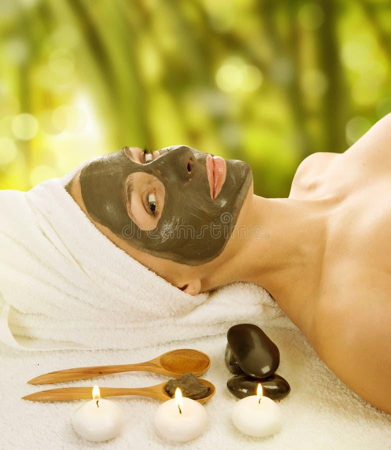 Máscara facial da lama dos termas fotografia de stock royalty free