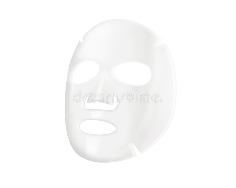 Máscara facial de la hoja fotos de archivo libres de regalías